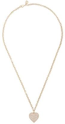 Sydney Evan 14kt Yellow Gold Diamond Heart Pendant Necklace