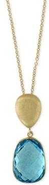 Effy Ocean Bleu by Blue Topaz Pendant Necklace (8-1/6 ct. t.w.) in 14k Gold