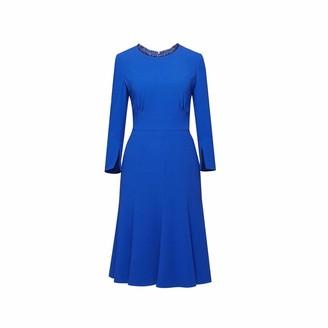 Christina Royal Blue Fluted Dress