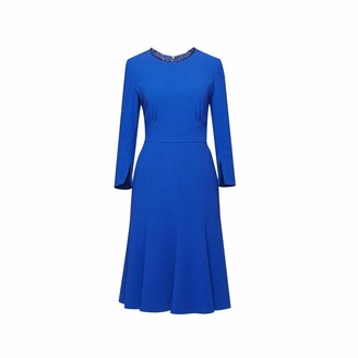 Rumour London Christina Royal Blue Fluted Dress