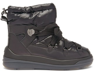 Moncler Florine Technical-shell And Leather Boots - Black