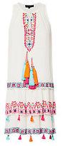 Hemant & Nandita Hemant & Nandita Layered Embroidery Mini Swing Dress