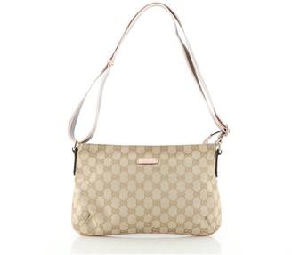 Gucci Web Strap Messenger Bag GG Canvas Small