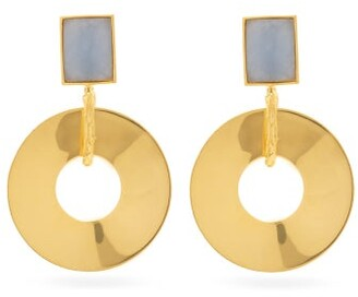 Lizzie Fortunato Promenade Hour Angelite & Gold-plated Earrings - Gold