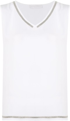 Fabiana Filippi Sleeveless V-Neck Top