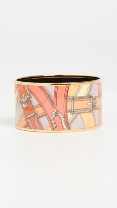 What Goes Around Comes Around Hermes Enamel Bangle - Extra Wide