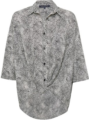 French Connection Mini Leopard Print Twist Front Shirt