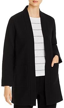 Eileen Fisher Textured Notch-Collar Open-Front Jacket - 100% Exclusive
