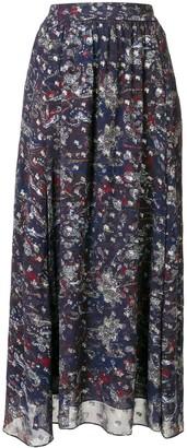 IRO Abstract Print Maxi Skirt