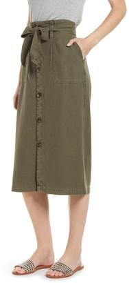 Susina Utility Tie Waist Skirt (Petite)