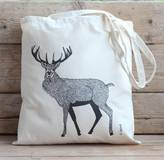 Bird Red Stag Canvas Handy Bag