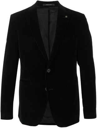 Tagliatore Velvet Single-Breasted Blazer