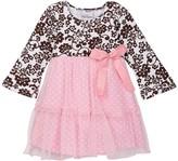 Flap Happy Savannah Long Sleeve Front Bow Printed Dress (Baby Girls, Toddler Girls, Little Girls, & Big Girls)