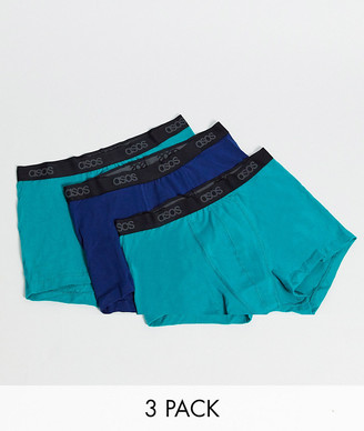 ASOS DESIGN 3 pack trunks with branded waistband save