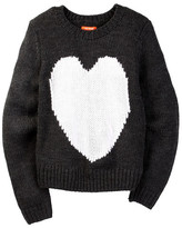 Joe Fresh Knit Heart Sweater (Big Girls)