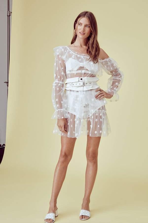For Love & Lemons Claudia Off-Shoulder Dress
