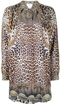 Thumbnail for your product : Camilla Leopard-Print Long-Sleeve Silk Shirt