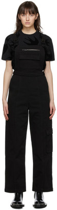 McQ Black Denim Jumpsuit
