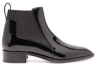 Christian Louboutin Marmada Patent-leather Chelsea Boots - Black