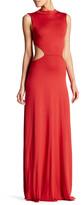 Rachel Pally Mock Neck Sleeveless Cutout Long Dress
