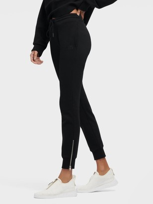 DKNY Women's Jogger With Zipper Cuffs - Black - Size XX-Small