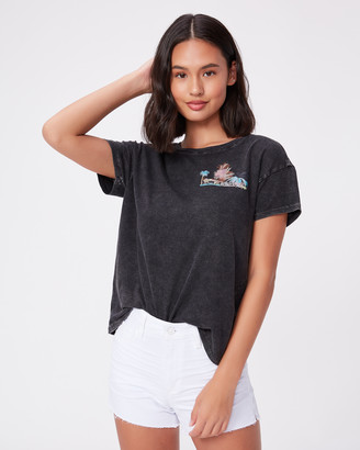 Paige Ryo Tee Pool Party Graphic-Washed Black