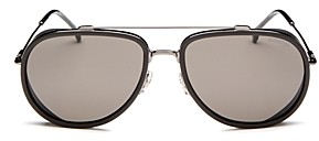 Carrera Men's Brow Bar Aviator Sunglasses, 62mm