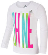 adidas Girls 2-6x Long Sleeve Graphic Tee