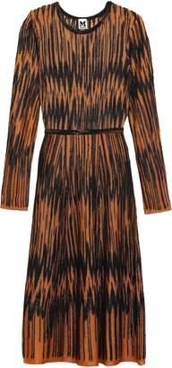 M Missoni Flared Jacquard-knit Midi Dress