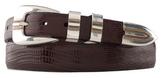 Johnston & Murphy Lizard-Grain Ranger Belt