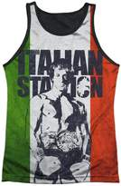 Rocky Sports Boxing Movie Italian Stallion Adult Black Back Tank Top Shirt