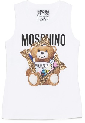 Moschino Teddy Frame Print Tank Top