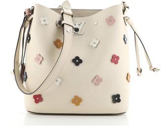 Louis Vuitton Lockme Bucket Bag Flower Embellished Leather