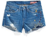 Blank NYC Girl's Blanknyc Embroidered Cutoff Shorts