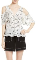 McQ by Alexander McQueen Women's Polka Dot Cold Shoulder Top
