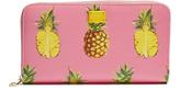 Dolce & Gabbana Pineapple-print zip-around leather wallet