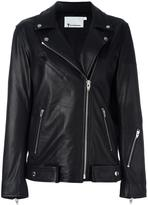 Alexander Wang oversized biker jacket - women - Leather/Cupro - 0