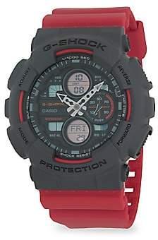 G-Shock Men's Black & Red Analog-Digital Watch