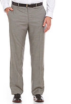 Perry Ellis Big & Tall Regular-Fit Flat-Front Micro Plaid Pants