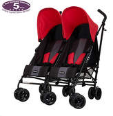 O Baby Obaby Apollo Black and Grey Twin Stroller - Red