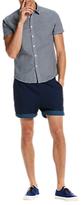 Scotch & Soda Structured Cotton Short Sleeve Shirt, Blue