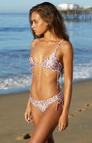 La Hearts Lace-Up Fixed Triangle Bikini Top