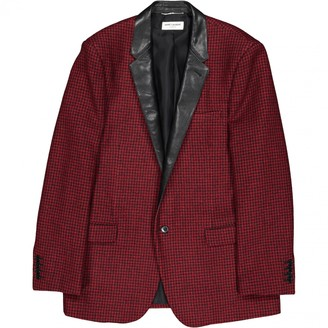 Saint Laurent Red Wool Jackets
