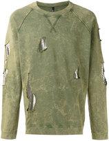 Versus distressed sweatshirt - men - Cotton/metal - M