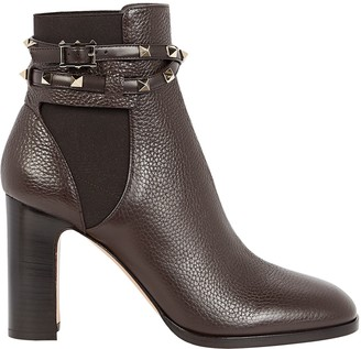 Valentino Rockstud Leather Wrap Chelsea Boots