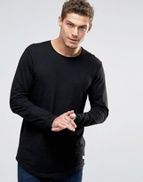 Esprit Longline Longsleeve T-Shirt with Curved Hem