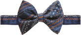 Vivienne Westwood Scribbled Navy Blue Bow Tie One Size