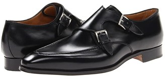 Gravati Double Monk Toe Stitch (Natural Black) Men's Slip on Shoes