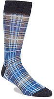 Daniel Cremieux Plaid Crew Dress Socks