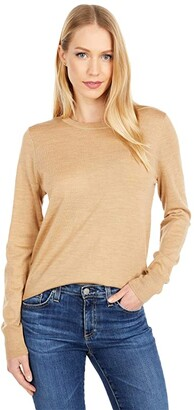 J.Crew Margot Crew Neck Sweater (Heather Camel) Women's Sweater